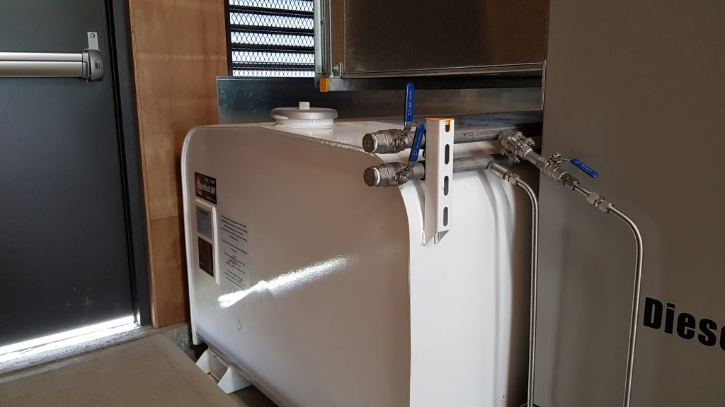 Tight fit Fuelchief SuperVault Power Supply Room