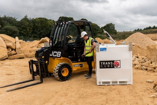 10TCC with forklift