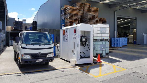 Fuelchief DC50 fuel tank on site