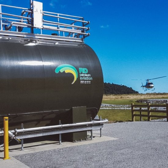 Tank on site at Franz Josef - Fuelchief SuperVault Aviation Fuel Tank