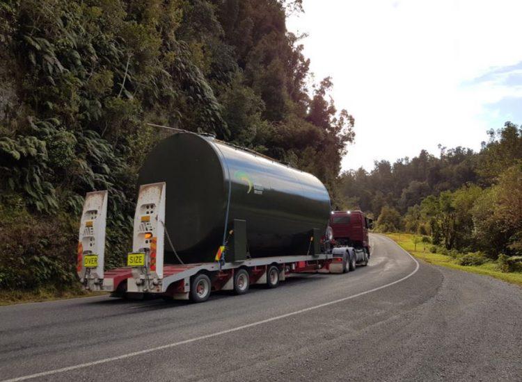 On route to Franz Josef - Fuelchief SuperVault Aviation Fuel Tank