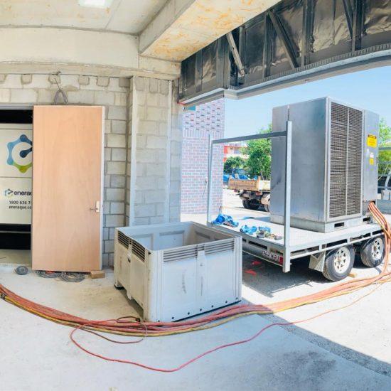Fuelchief Prince Charles Hospital Case Study - SuperVault Rectangular Tank Doorway View