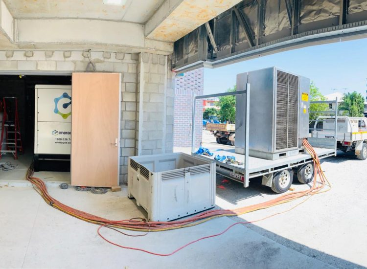 Fuelchief Prince Charles Hospital Case Study - SuperVault Rectangular Tank Doorway View