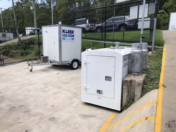 Fuelchief DC25 diesel fuel tanks on site at Kleer Cold Room