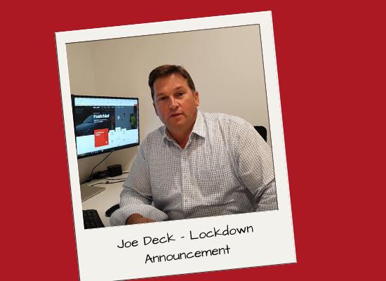 Joe Deck - COVID-19 - Company Announcement - YouTube