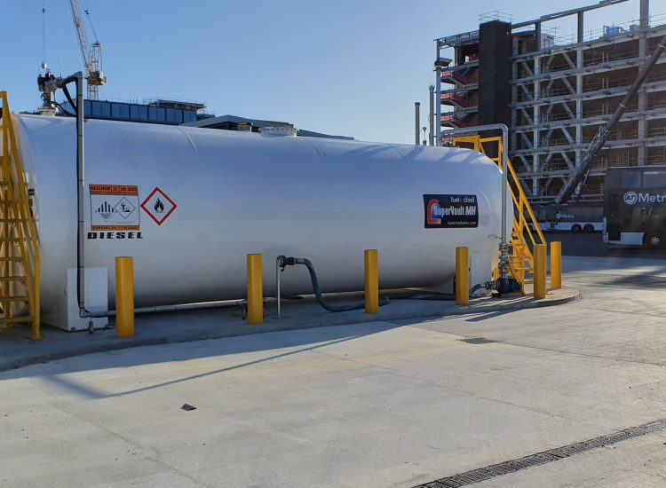 Fuelchief NZ Bus - SuperVault image of the tank on site
