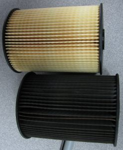 Clogged filter vs Clean filter