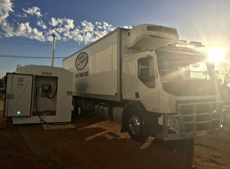 DC100 Fuelchief Tank Warrego Food Suppliers tank on site image