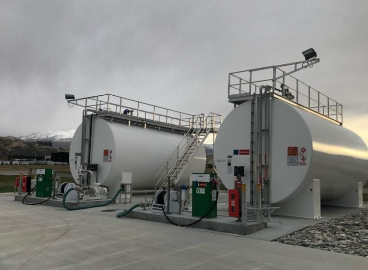 Two air BP SuperVault Tanks Queenstown Airport
