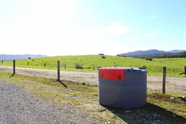 View of Fuelchief Farm Tank on Farm with closed lid