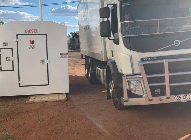 Onsite Refuelling at Warrego Food Suppliers with Fuelchief DC100 diesel fuel tank image