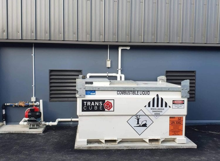 Fuelchief Case Study - Comag - Kiwi Rail - image of tank on site