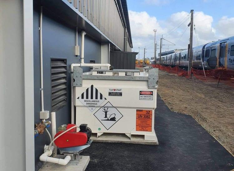 Fuelchief - TransCube- Kiwi Rail - side view of TransCube Tank