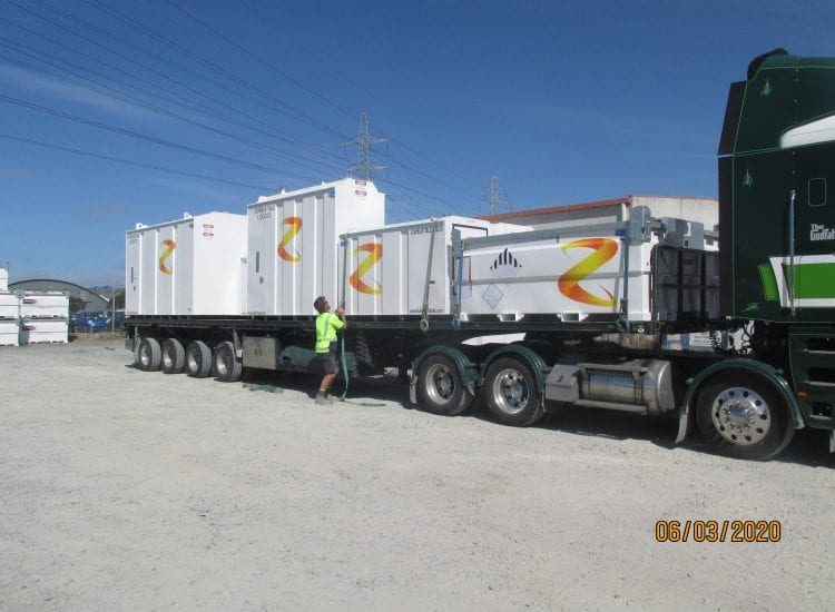 Z energy Items on the road out to client image