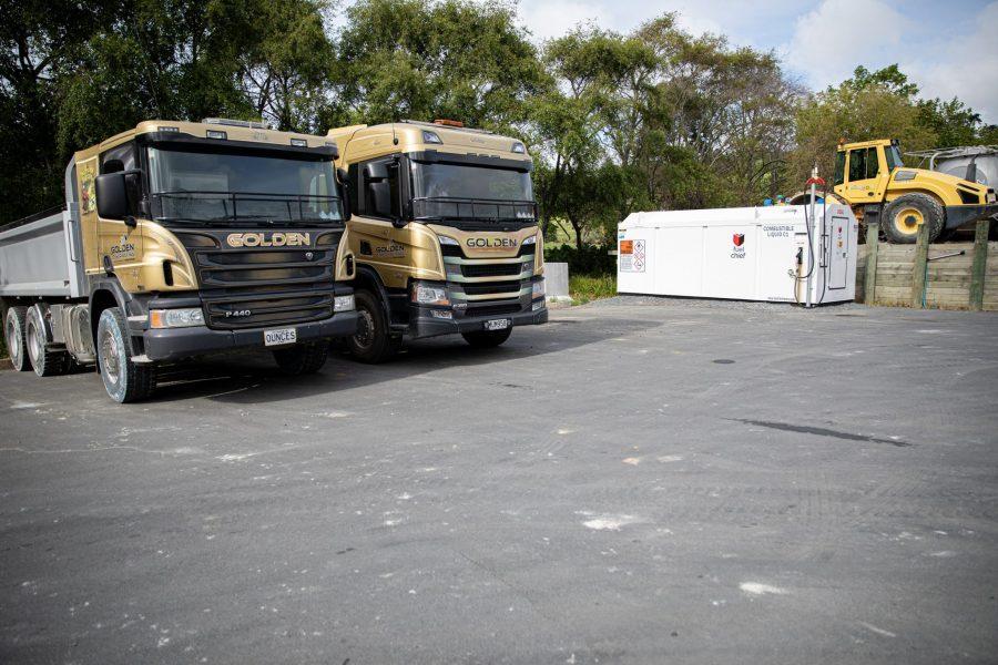 Golden Contracting site showing Fuelchief DCD200 diesel fuel tank