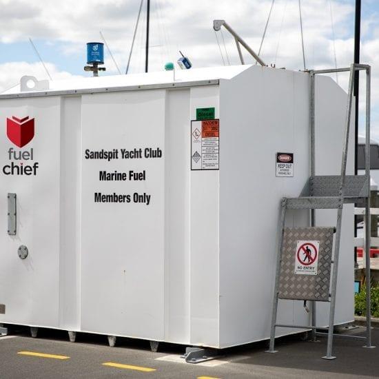 Fuelchief DC Series fuel tank at Sandspit Marina